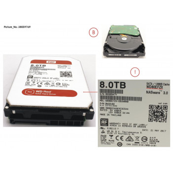 HDD 8TB WD RED FOR NAS