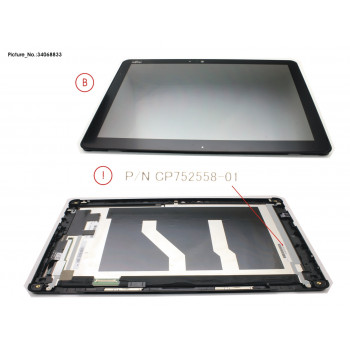 LCD ASSY,AG INCL.TP AND...