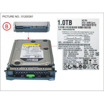 HD SATA 6G 1TB 7.2K HOT...