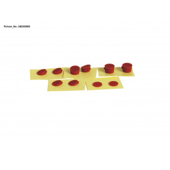 RUBBER SET, SCREW COVER RED...