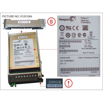 SSD SATA 6G 200GB MLC HOT P...