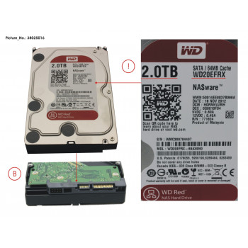 HDD 2 TB WD RED FOR NAS