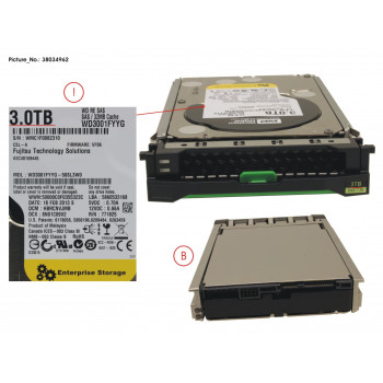 HD SAS 6G 3TB 7.2K HOT PL...