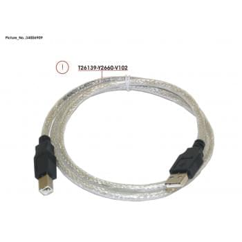 CABLE USB AB 1M
